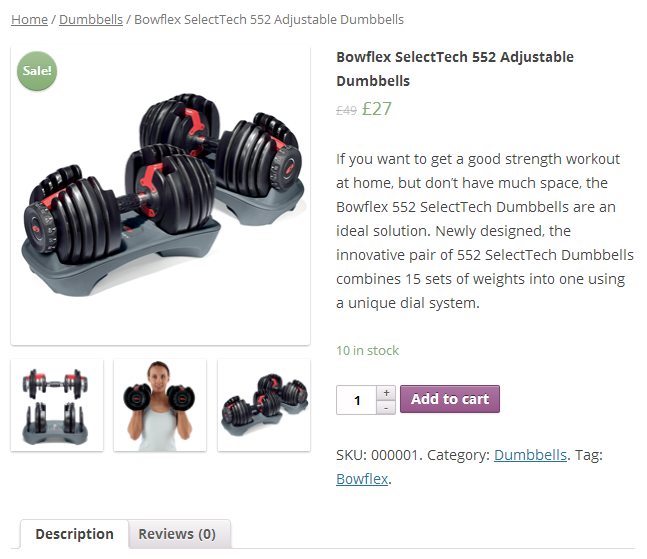Example of WooCommerce Product